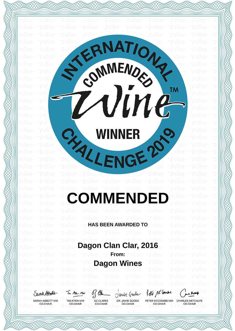 Certificat de recomandare Dagon Clar