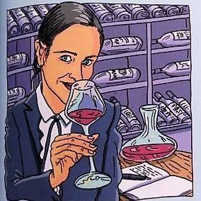 Julia Scavo degusta vinuri - desen