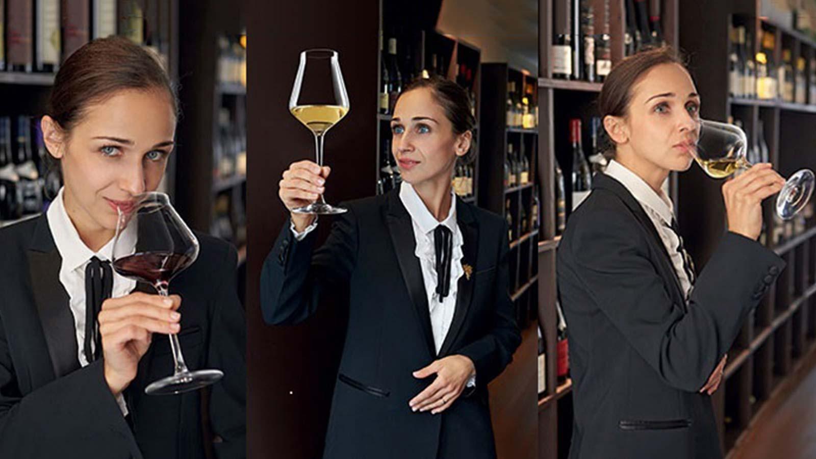 Julia Scavo degusta vinuri