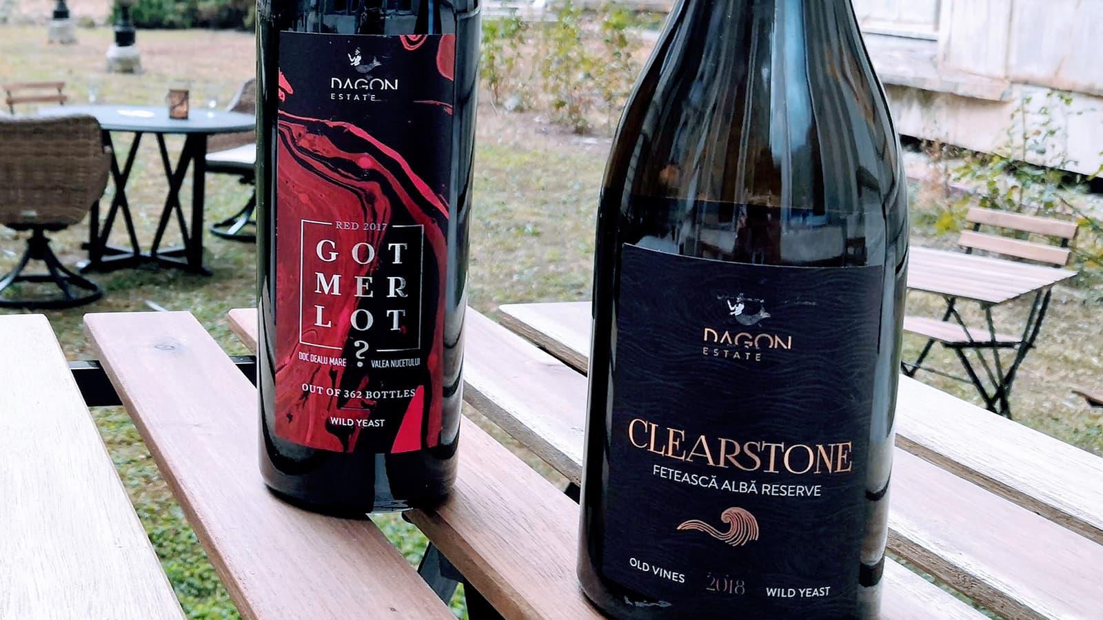 sticle de vin Got Merlot si Clearstone